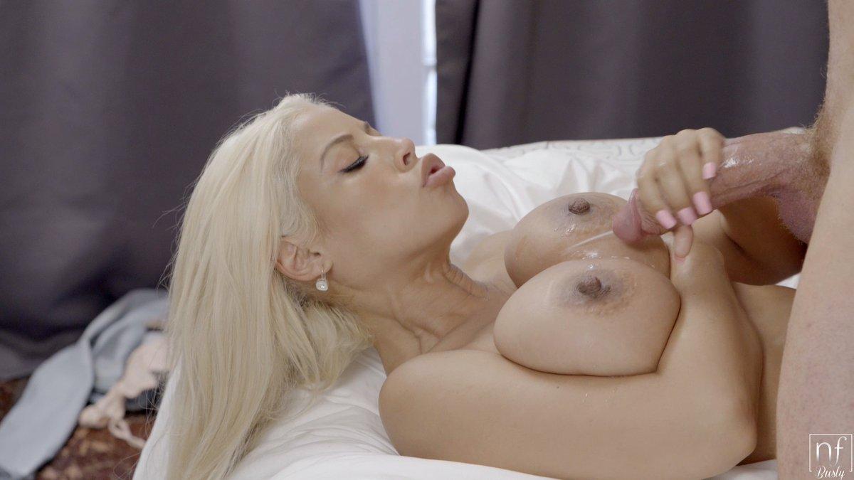 Watch huge tits blonde get a cumshot