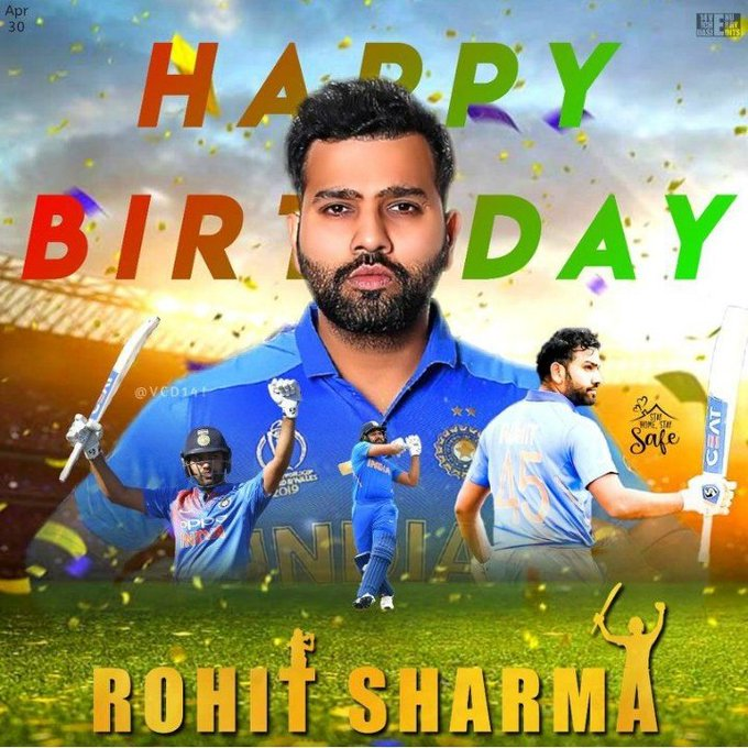 HAPPY birthday Rohit sharma brother I am die hard fan of you