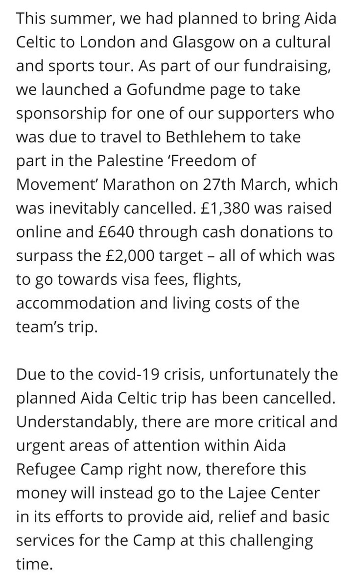 Due to the current COVID-19 crisis the Aida Celtic tour of the UK this summer has been cancelled. A commemorative t-shirt we had planned to sell to raise funds for the tour will go on sale to recuperate costs and raise much needed funds. Details below 👇🏽 aidaceltic.com/product/beyond…