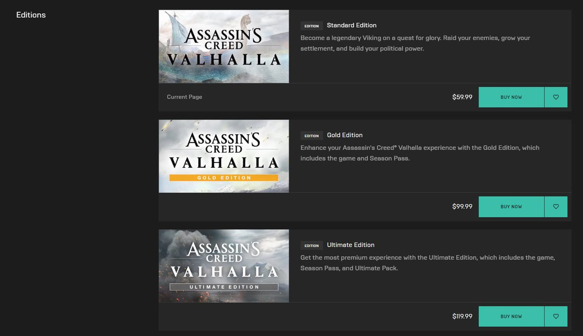 Wario64 On Twitter Assassin S Creed Valhalla Preorder On Epic Games Store It Won T Be On Steam Like Recent Ubisoft Games Https T Co Ed3nf8r3bj Https T Co Jqawdjn0w9