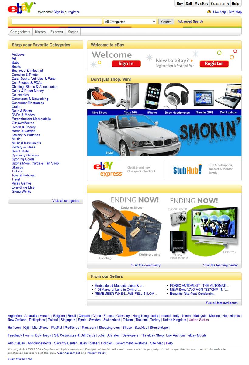 Web Design Museum On Twitter Ebay Website Timeline 1996 2019 Https T Co Oftluupuet Ebay Internethistory Timeline