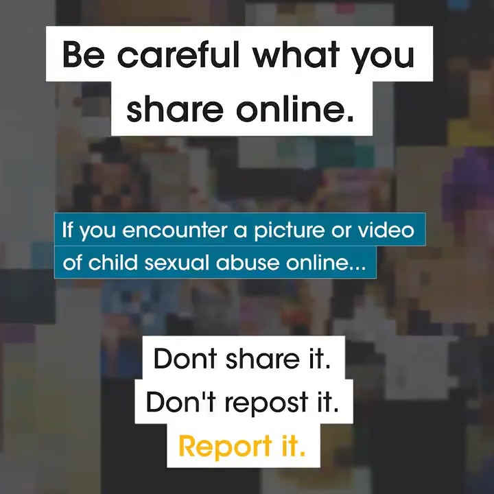 "NCMEC على تويتر: ""If you encounter Child Sexual Abuse ..."