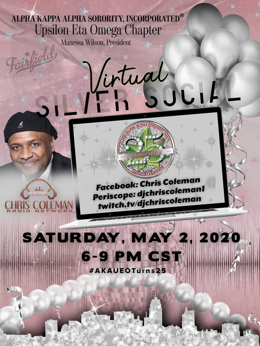 PUBLIC INVITED   ⠀⠀⠀⠀⠀⠀⠀⠀⠀ Join us on Saturday, May, 2, 2020, from 6-9 pm as we celebrate UEO's 25th Anniversary!  Share with your family, friends, associates, fellow Greeks, etc!  #AKA1908 #AKASouthEastern #AKAUEO #AKAUEOTurns25 @akasorority1908pic.twitter.com/S3cDWir08Y