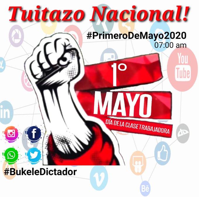 Convocan a tuitazo nacional con etiqueta #BukeleDictador