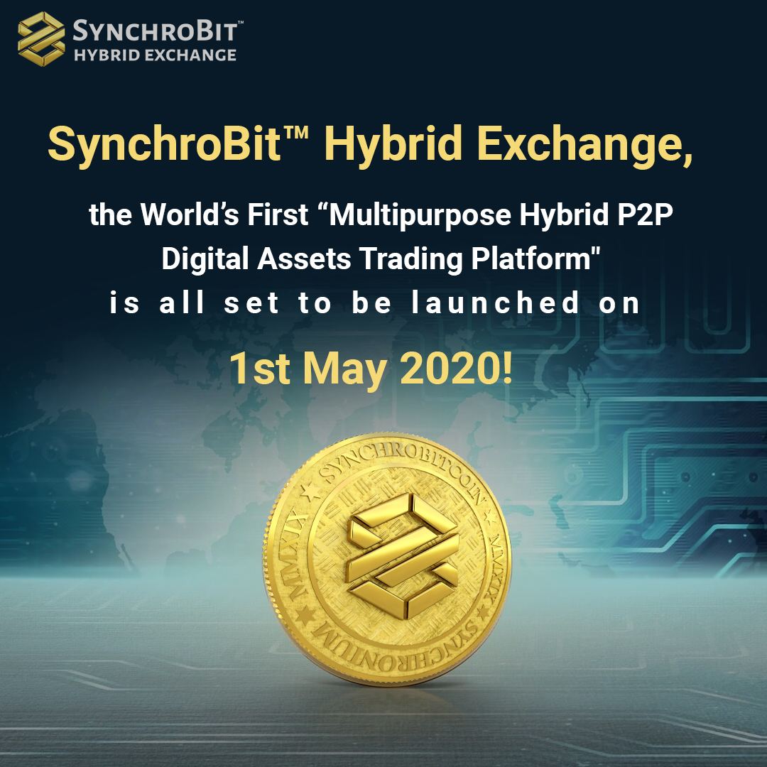 SynchroBit™ Hybrid Exchange is now all set to launch on Tomorrow at 9:00 am UTC. Get ready to trade like a pro!  #synchrobit #london #corona #Barcellona #covid19 #Switzerland #coronavirus #AbuDhabi #bitcoin #crypto #traders #trading #cryptopic.twitter.com/oKtdPjqypG