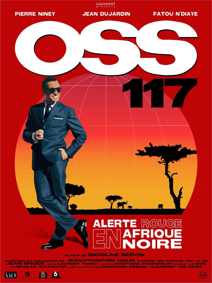 थ मस On Twitter Oss117 Alerte Rouge En Afrique Noire Affiche Cousue Main