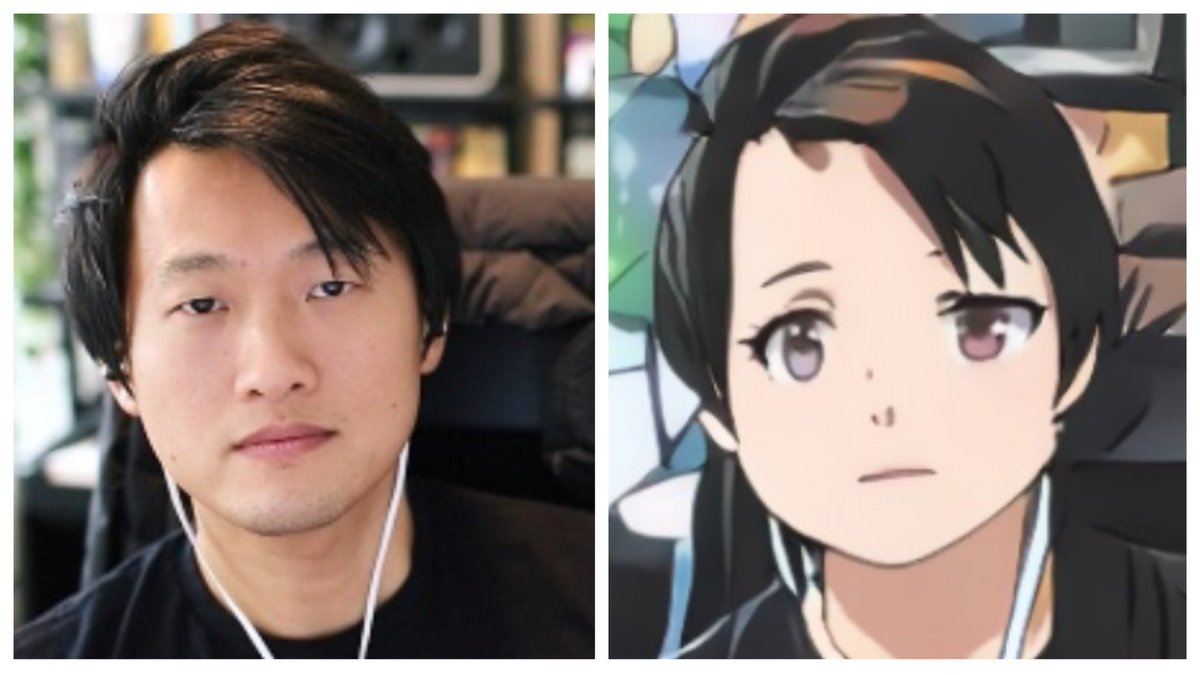 David Zhou On Twitter Tried A Selfie To Anime Converter And Lol