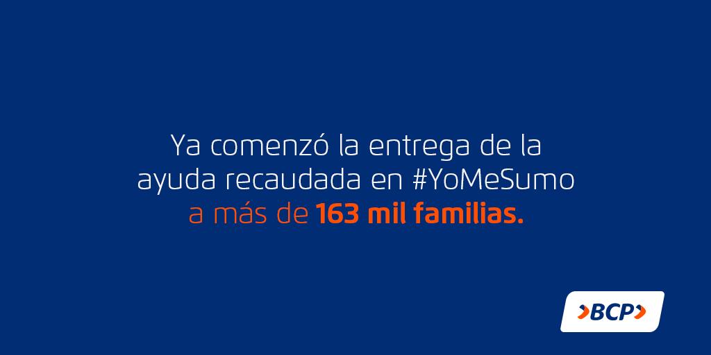 El @MidisPeru ha elegido a más de 163 mil familias que no obtuvieron el bono del Gobierno y ahora serán beneficiadas por las donaciones de #YoMeSumo.🇵🇪 Agradecemos a todos los que se sumaron para ayudar a tantas familias.👨👩👧  Sigue estos pasos para saber si podrás recibir el bono: https://t.co/VBUglBMCQj