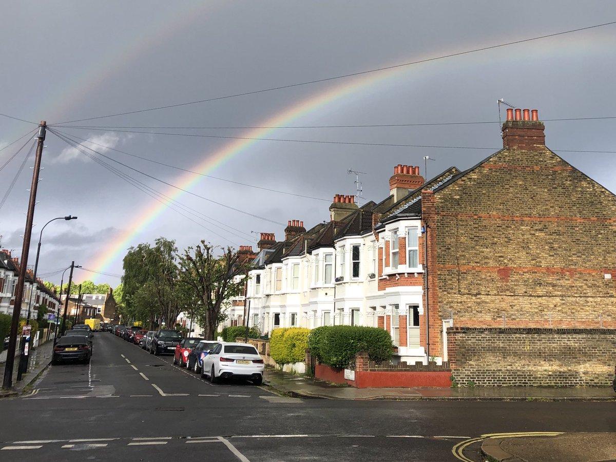 Rainbow over H&F tonight ready for #ClapforCarers #ClapforOurNHS #ClapforKeyWorkers