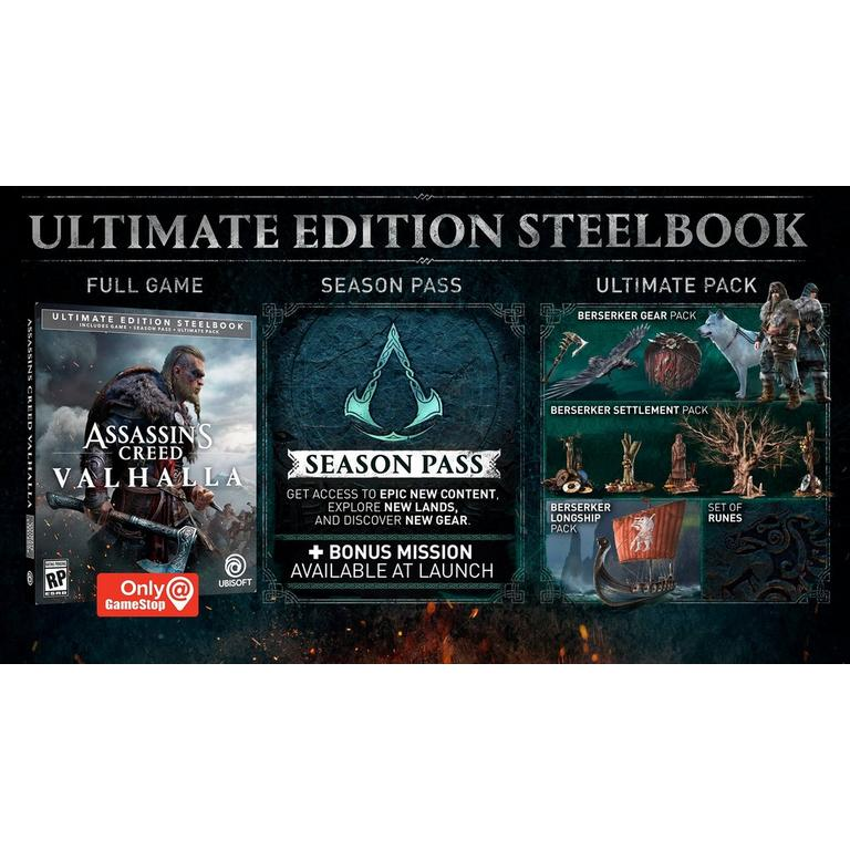 assassins creed valhalla ultimate edition steelbook