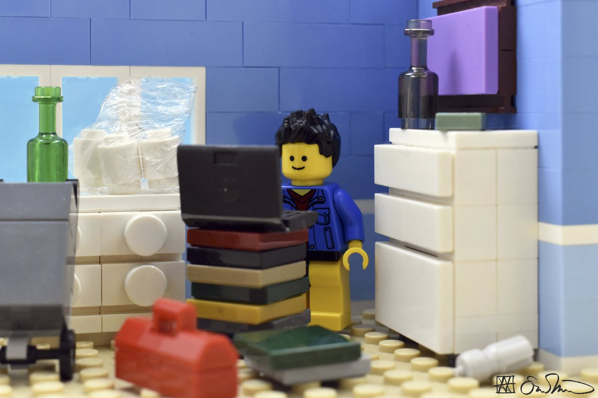 Logging on to a videoconferencing session, the grad student squeezes himself into the one remotely clean corner of his apartment. https://t.co/hEk85L9BYG