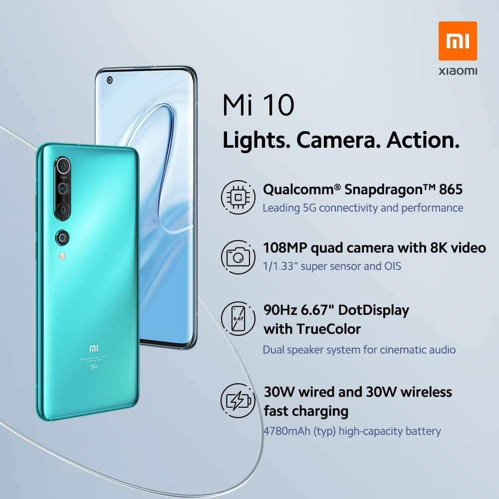 Smartphone flagship Xiaomi Mi 10 yang bakal diluncurkan pekan depan, 8 Mei 2020 di Indonesia