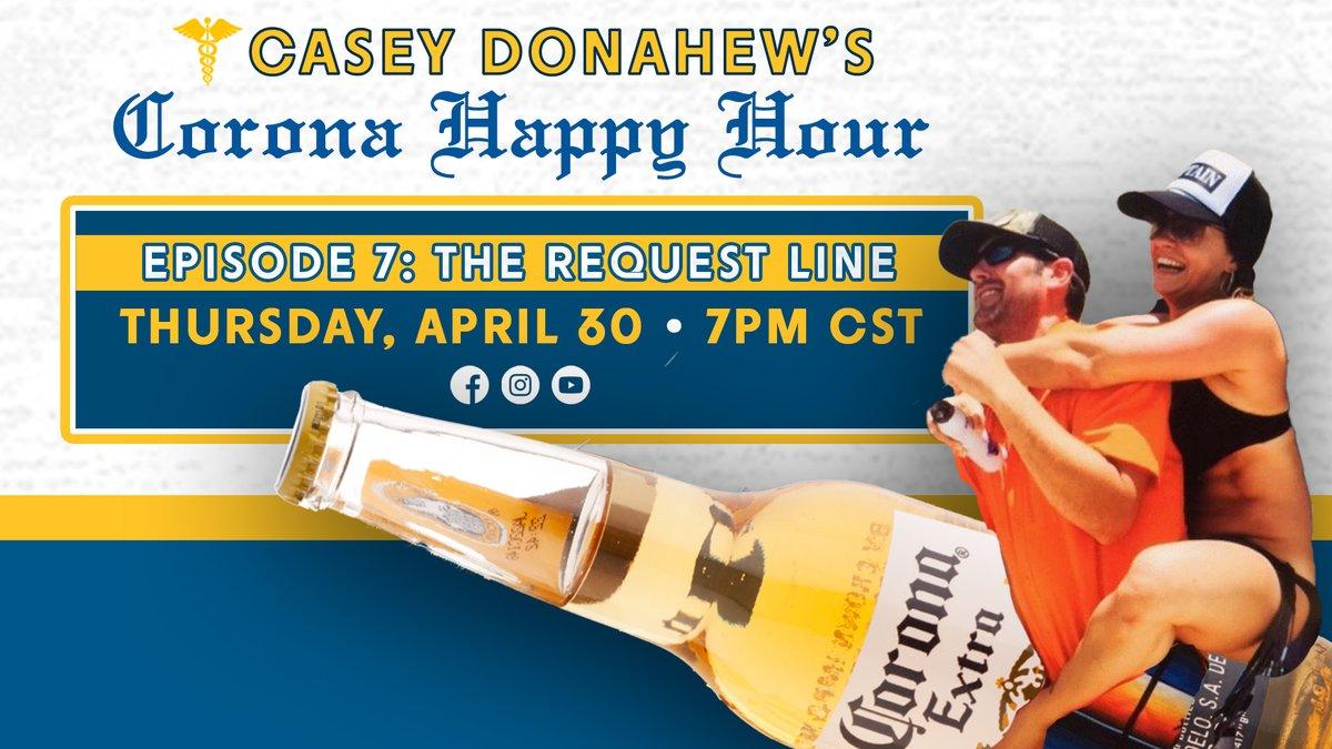 15 min countdown. #coronahappyhour Episode 7. The Request Line Is Open smarturl.it/CD_430