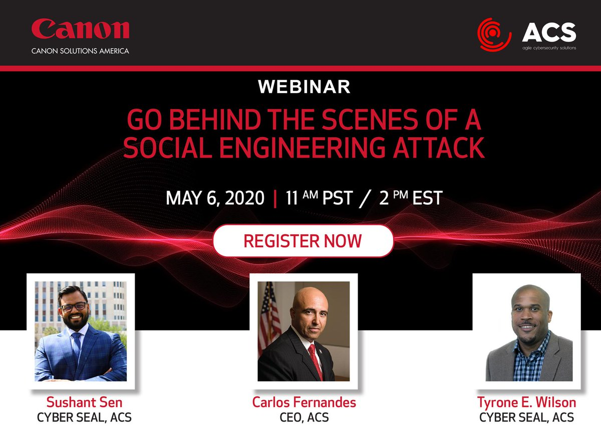 🚨REMINDER🚨: If you can't make it on May 6th, when you register you'll be able to access the webinar both LIVE and on-demand! #CanonSolutionsAmerica