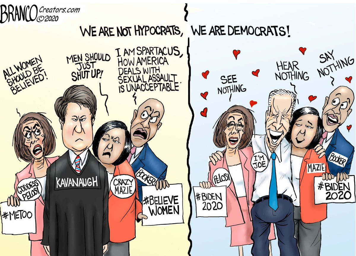 Democrats and Mainstream Media were 💯 sure and very vocal about Judge #Kavanaugh guilt. Now they are quite silent and fully satisfied regarding @JoeBiden's innocence. Don't let #JoeBiden and his supporters get away with nipping the #TaraReade evidence in the bud. @afbranco https://t.co/fq9Idx4ZN3