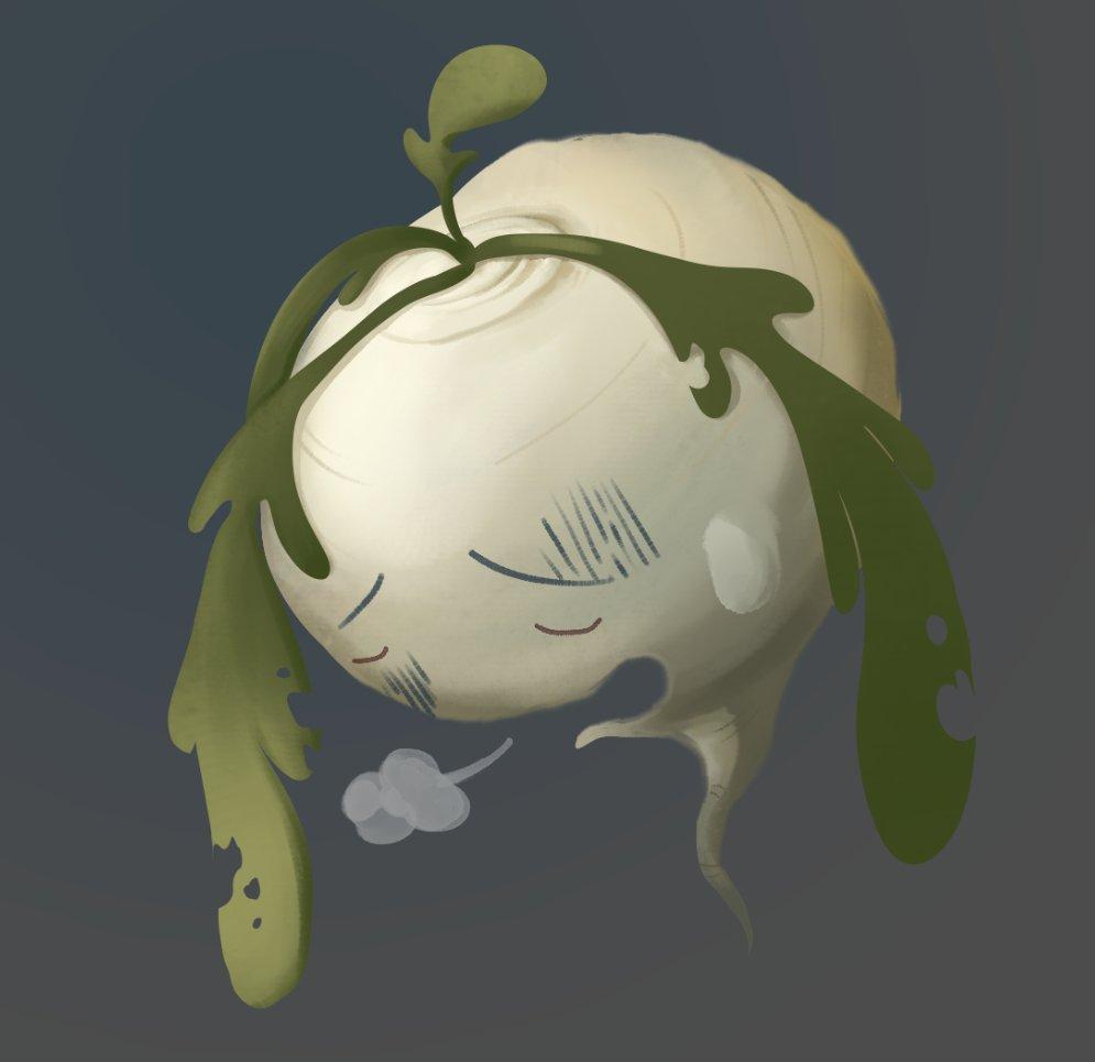 Turnip is sad; Kholrabi ist viel traurig. #turnip #ACNHturnips