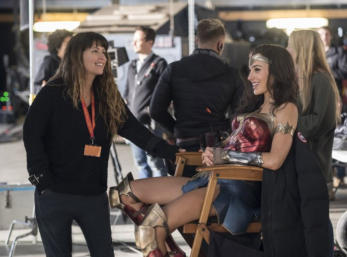 Patty Jenkins and Gal Gadot