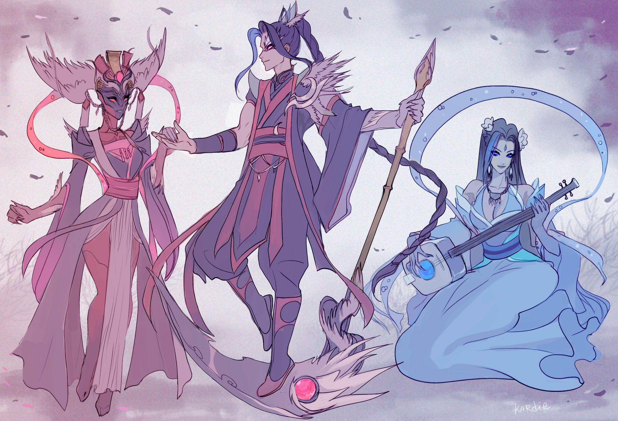 Kardie On Twitter Blessed Scythe Kayn With Two Ladies Kayn Lol Leagueoflegends Leagueoflegendsfanart