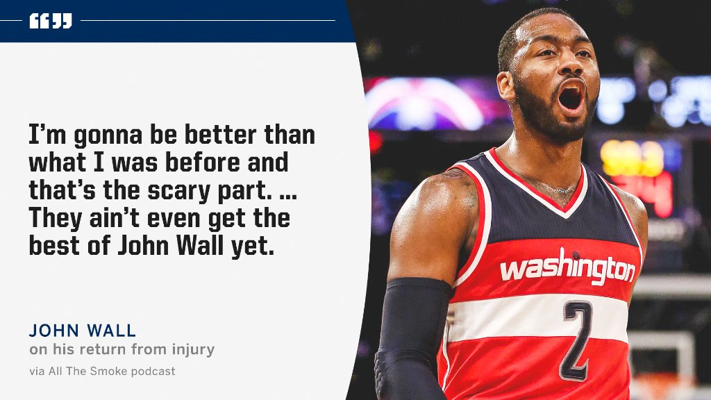 .@JohnWall said his best has yet to come 👀 https://t.co/27MNRaQtgp