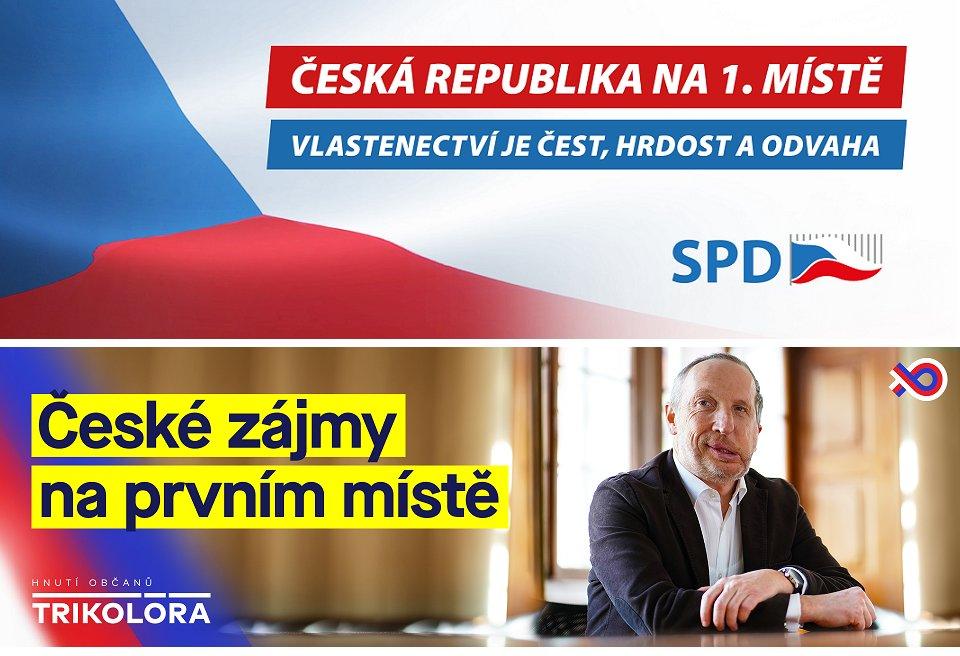 české zájmy na prvním místě - trikolora