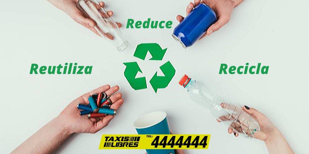 Es tarea de todos cuidar nuestro entorno, por eso es importante incluir en nuestros hábitos de vida, implementar las 3R (Reusa, Recicla y Reutiliza)  y así contribuir a nuestro planeta. #TipsLT4 #CuidoElPlaneta #CaliCo #TaxisLibresLos4pic.twitter.com/6pYQVkIDHF