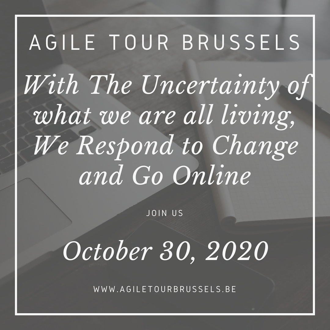 We had to make a choice, for you and us. With Covid-19 and uncertainty of the situation in october, this year, we go online... so we'll be available WORLDWIDE !!! #agileconference #agiletour #agile #ATBru2020 https://t.co/fumqxglh9M