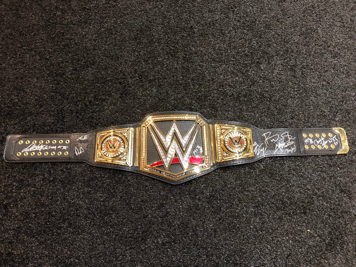Support the @funds4disaster COVID-19 Response Fund & a chance to win a signed #WWE Championship Title by all #Wrestlemania36 Champions! @BeckyLynchWWE @MsCharlotteWWE @DMcIntyreWWE @AndradeCienWWE @MontezFordWWE @AngeloDawkins @BraunStrowman @itsBayleyWWE https://t.co/CuTg0Gzey2 https://t.co/I7QQ7N9odb