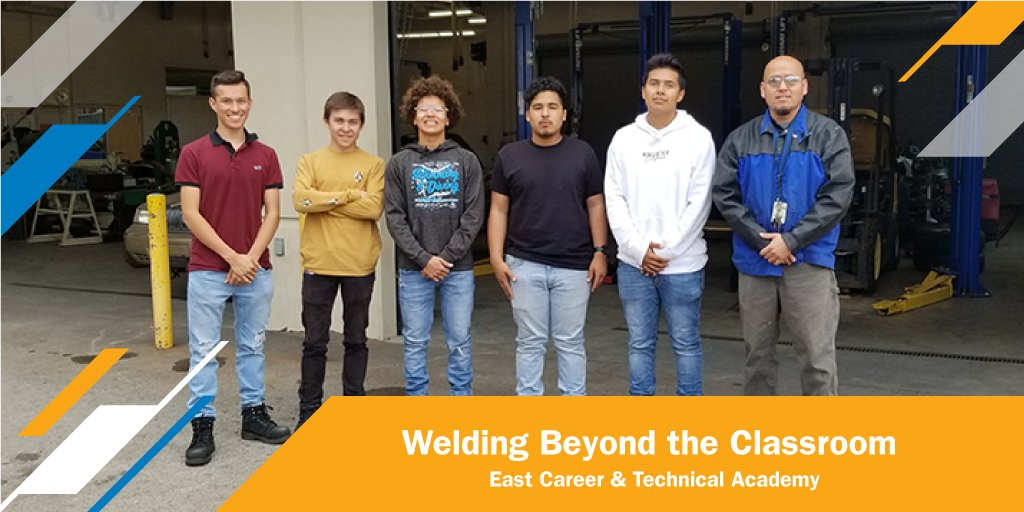 Ivan Arroyo, weld instructor at East Career & Technical Academy in Las Vegas, teaches academics, skills and real-world lessons – like clocking in and out – to help students get and keep jobs. #nationalweldingmonth #MillerWelders   Learn more. https://t.co/gARuFBeSWp https://t.co/tU8zG7zKXp