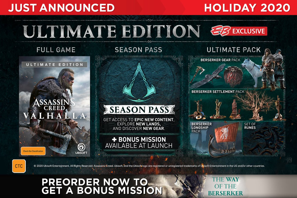Eb Games Australia On Twitter Just Announced Eb Exclusive Assassin S Creed Valhalla Editions Coming Holiday 2020 Preorder Now Https T Co Pguajikaow Https T Co Eypbtfschb