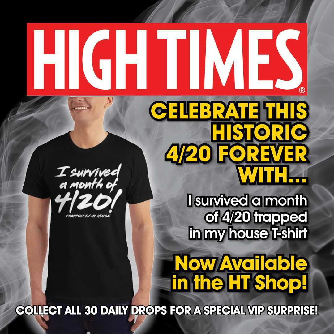Friends - we did it. They will tell stories and sing songs about us for generations to come! 📯 We decided to commemorate this certifiably crazy (but definitely weed-filled) month with a special t-shirt - any size & color you want. 👕 https://t.co/YIyQh5Aujg #420month #hightimes https://t.co/twalO0VRIv