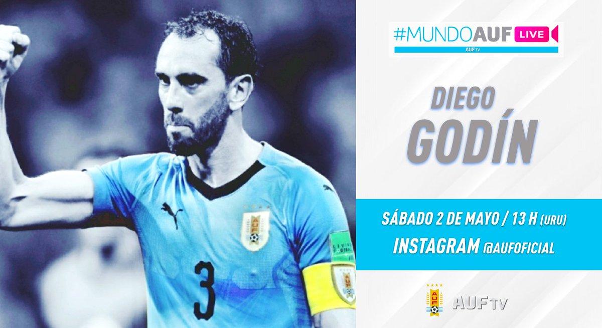 ⚽️🇺🇾️👥©️ #MundoAUFLive #AUFTV  El próximo sábado, a las 13 h (URU), hablaremos con el capitán, @diegogodin, por #InstagramLive de la AUF.  Qué te gustaría preguntarle al defensa del @Inter y @Uruguay❓❓  Te invitamos a sumarte al vivo que conducirá @RodrigoRomano76 ‼️ https://t.co/Fxwo88vMRo