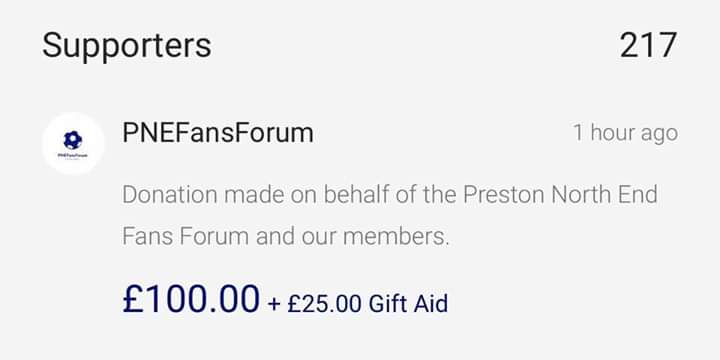 Massive thank you to @pnefc Fans Forum for the very generous £100 donation to our COVID-19 Just Giving Appeal!  If you would like to donate the link is in our bio  #grateful #thankyou #COVID19 https://t.co/0XII2sAAg9