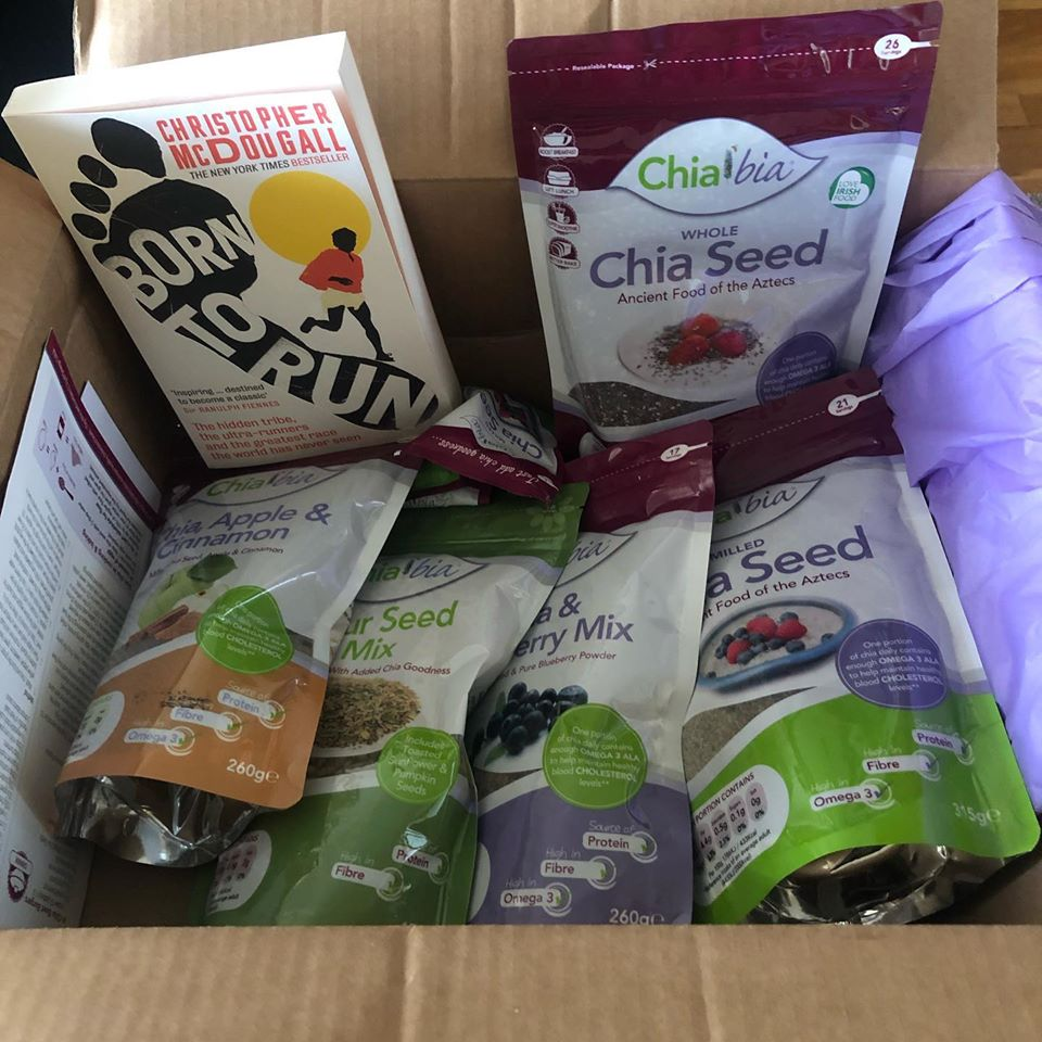 Entering Day 18 of my 21km-21 days. Really appreicate all the encouragement. Thanks to @ClaireSofiaWil and the team in @chiabiaseed for sorting me out with this box of goodness last week. Chia Bia are based in Tramore,wide range of products on https://t.co/1AfElqVGpY #borntorun https://t.co/njd8loD5kG