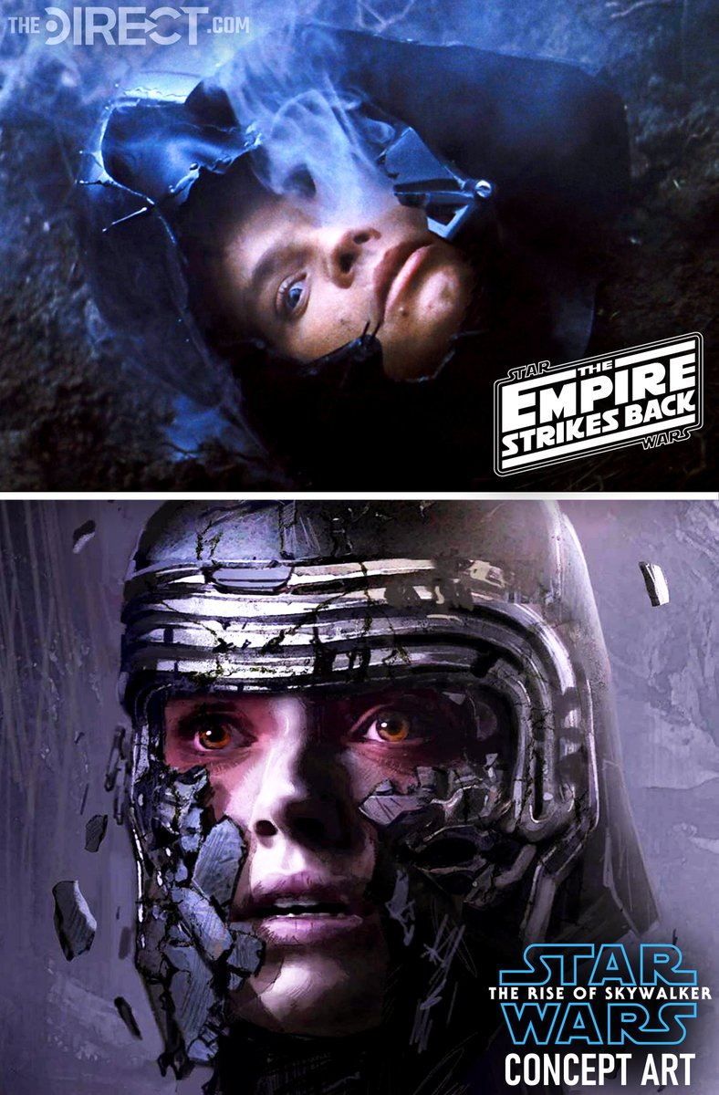Star Wars Direct On Twitter Official New Theriseofskywalker Concept Art Featuring Rey Wearing Kylo Ren S Helmet Is Heavily Inspired By The Luke Vs Vader Scene On Dagobah In The Empire Strikes Back