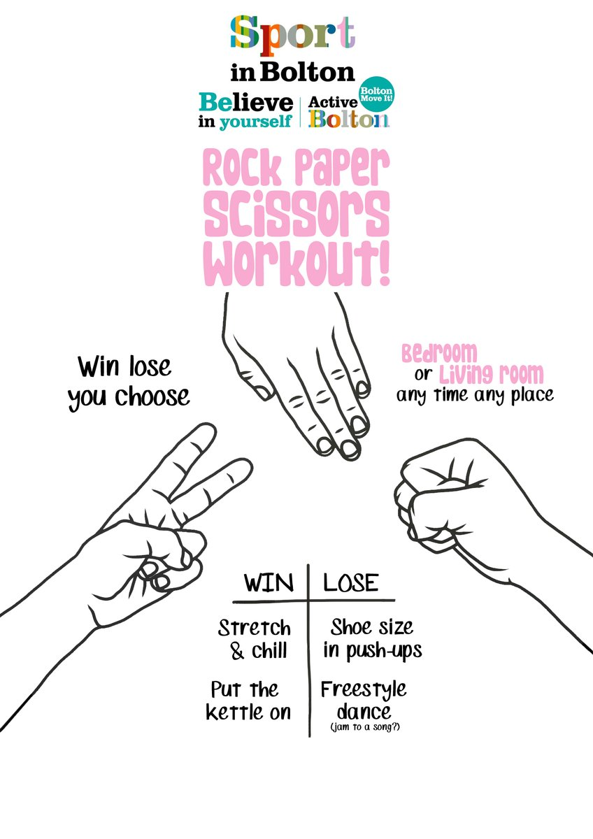 ✊ Rock Paper Scissors Workout 👋✌️  🛋️ Get the whole household involved.🏠 #KeepGMMoving #ActiveBolton