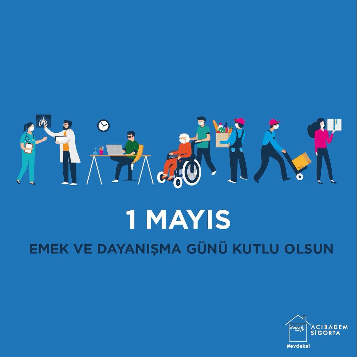 Bu zorlu günlerde çalışmalarını durdurmadan devam ettiren, başta sağlık çalışanları olmak üzere, üreten, emek veren tüm çalışanların #1MayısEmekveDayanışmaGünü kutlu olsun.  #BupaAcıbademSigorta #1Mayıs https://t.co/dmz9DMCprs