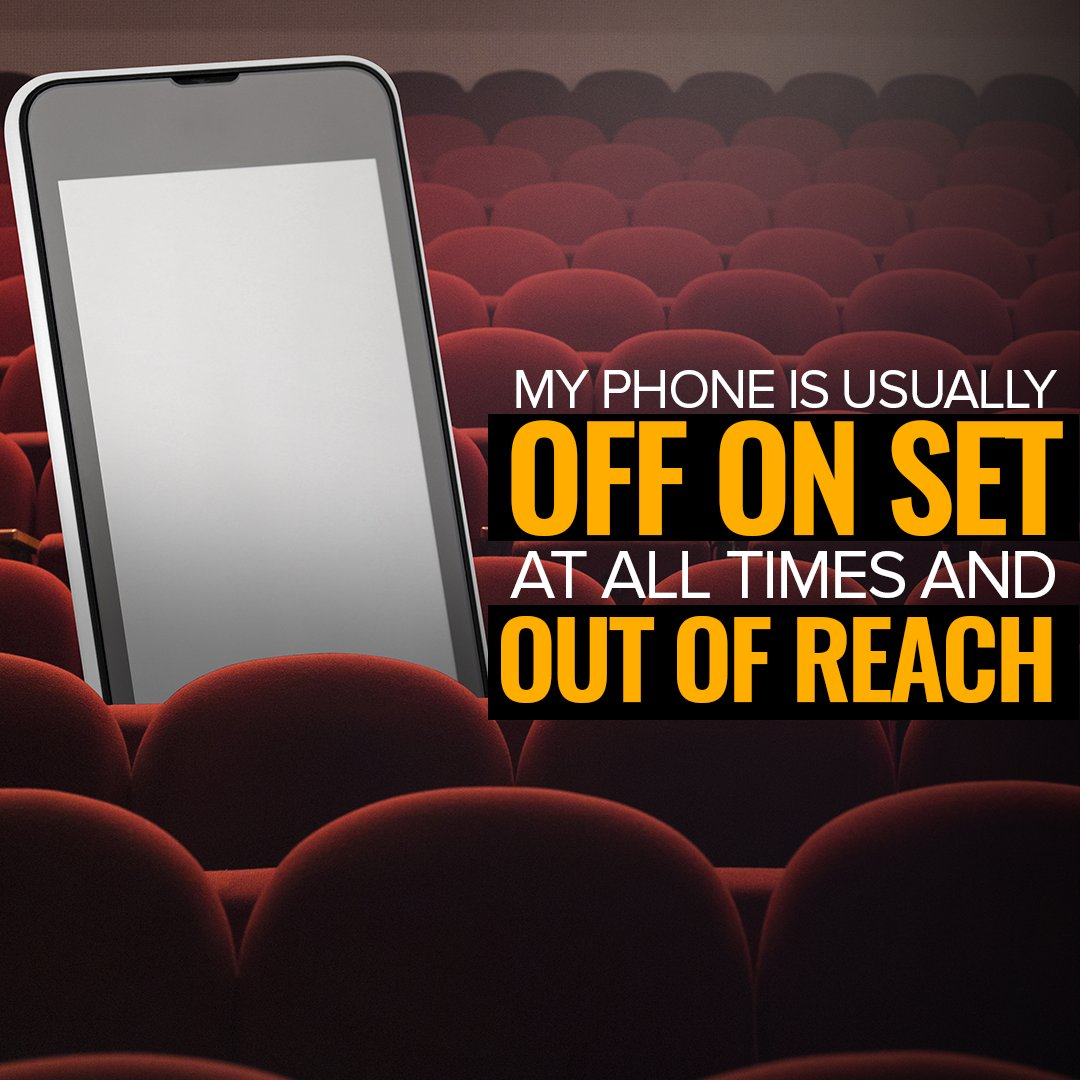 My phone is usually off on set at all times and out of reach.  #author #writers #fame #famous #celebrity #acting #act #theatre #music #casting #direction #friday #fridayfeeling #fridaynight Well unless I am running lines ha