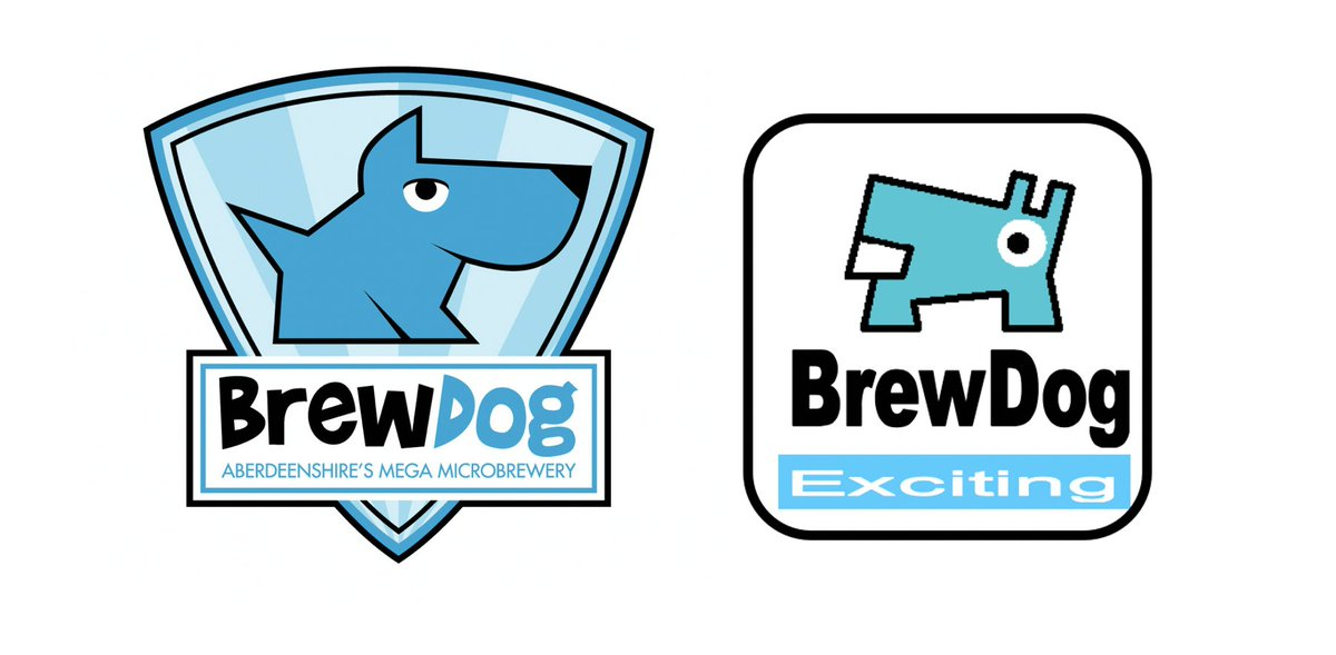 James Watt On Twitter 2 Other Pre Launch Brewdog Logos From 2007 Guess Which One I Did Myself I Especially Like Exciting As A Strap Line Https T Co W7vpu7e3mk