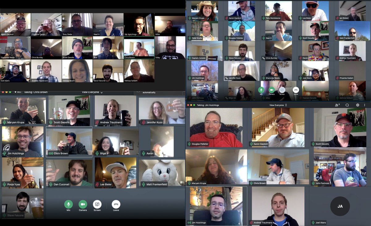 The Trifecta #culture lives on via virtual #happyhours as the team pulls together to celebrate the wins; big and small. #weareinthistogether https://t.co/x9xsSpJoX7