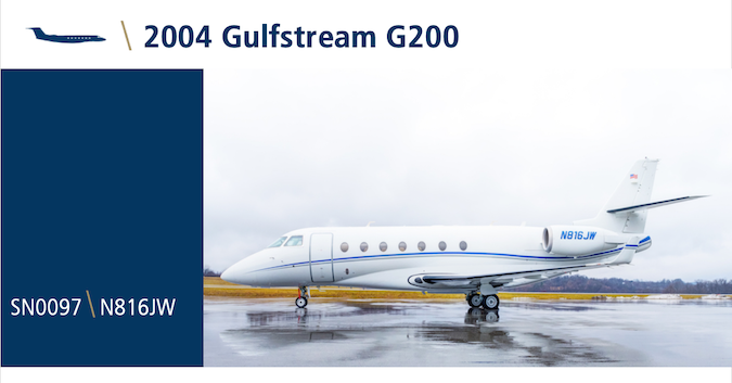 We're pleased to offer this 2004 Gulfstream G200 for lease or sale. The aircraft is in excellent condition and features 9 passenger configuration, ADS-B Out upgrades, tastefully appointed interior, and more. View details: hubs.ly/H0pXGry0. #bizav #bizjet #gulfstream