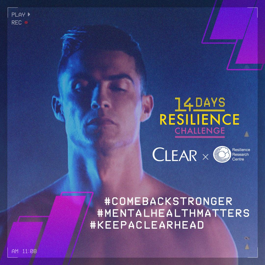 Today is day 1 of Clear's 14 day resilience challenge to #ComeBackStronger. Follow @HaircareClear over the next two weeks for skills, hacks and tips on how to build your resilience. https://t.co/fUFYAu32QV  #KeepaClearHead #MentalHealthMatters https://t.co/yOXFVgkXTd