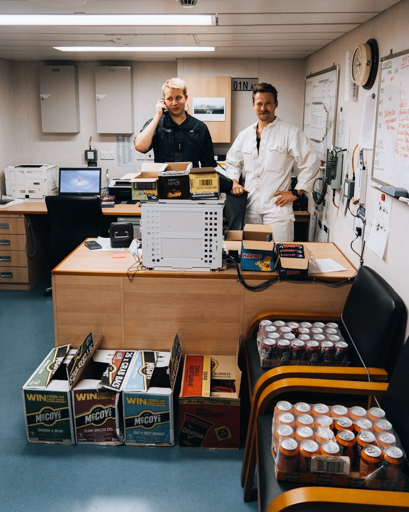 With many personal stocks of goodies and treats running low onboard, step forward two cadets and their onboard tuck shop courtesy of #NAAFI to provide some most welcome creature comforts! BZ lads keep it up!