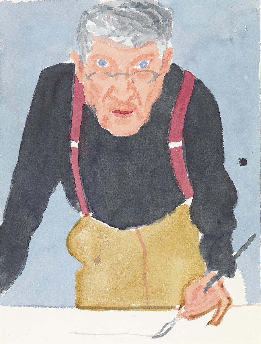 Looking for a new creative challenge for you and your family?  Take inspiration from David Hockney and get drawing with @NPGLondon.  📸: Self Portrait with Red Braces 2003 by David Hockney © David Hockney, credit: Richard Schmidt https://t.co/eyywhTR1C1