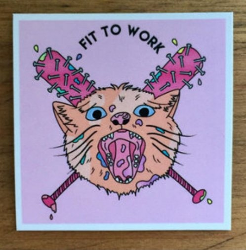 Also even if you don't like thrashpunk noise, you can buy our amazing EP artwork as tshirt, patch, pin, poster, and... fridge... magnet? Duncan, when we get fridge magnets? pic.twitter.com/W58hFJhzkF