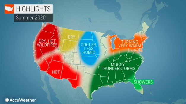 .@accuweather's long-range forecast team, led by veteran meteorologist @PaulPastelok, has provided an early look at what weather trends can be expected all around the nation this summer: https://t.co/FF9BjPO3RA https://t.co/aekrQnXU9L