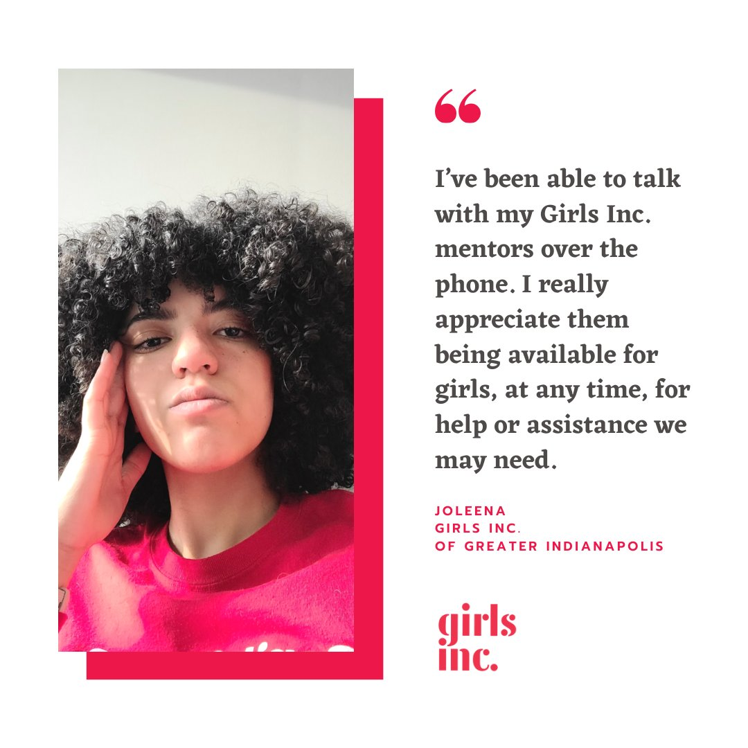 Joleena is a @GirlsIncIndy girl, and a member of the Teen Advocacy Council of Girls Inc. In her own words, Joleena shares how her world has changed during the #pandemic and how she is resolved to move forward:  #strongsmartbold #covid #girlstories