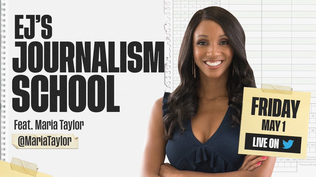 The final session of the j-school is Live today at 2ET with this @UGAGrady  grad and Damn Good Dawg @MariaTaylor   This will be a spectacular way to finish what has been an amazing six weeks https://t.co/BO9EruHmik