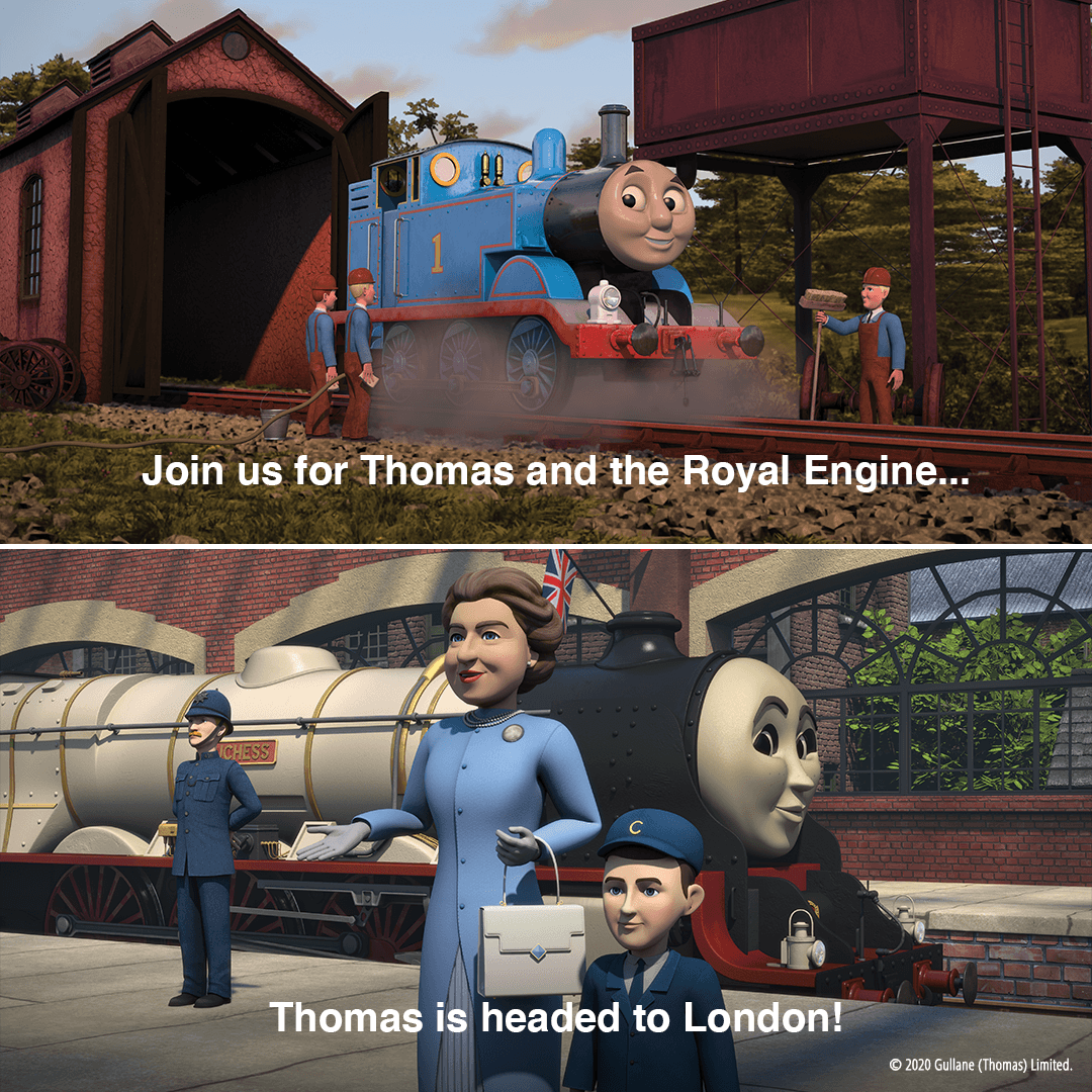 Who's ready for a visit to London? 🇬🇧 Thomas & Friends The Royal Engine special is now streaming on @netflix. #Thomas75 https://t.co/XoHGvIxfaS