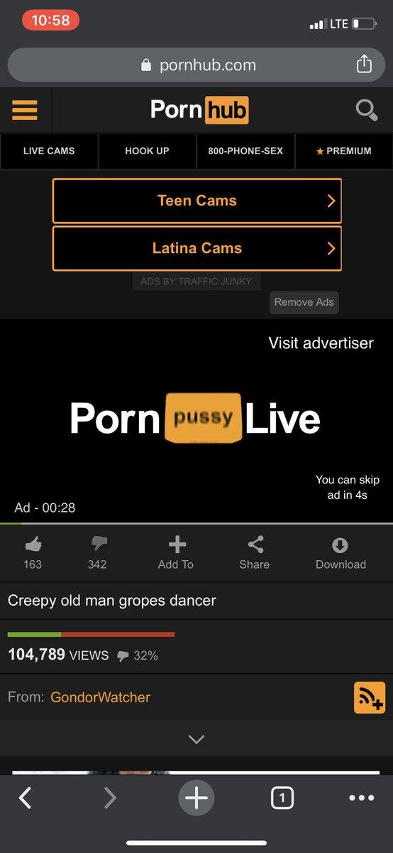 """This video is a crime scene— the repeated sexual assault of a woman. The word """"grope"""" doesn't do it justice. Pornhub moderators approved of this obvious assault & Pornhub placed ads before the video to profit from the assault. #Traffickinghub is complicit in crimes against women. https://t.co/OVD00WsPIV"""