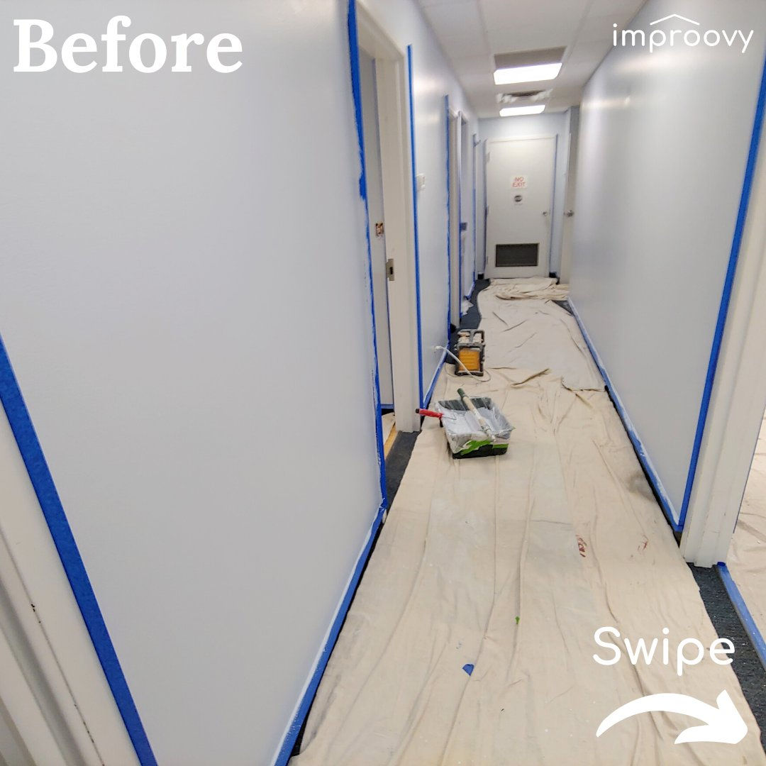 What Paint Colors Make a Hallway Look Bigger .  ANSWER: Whites, creams, & light pastels. Think Mineral Deposit (SW 7652) @SherwinWilliams  . http://bit.ly/Improovy   . #chicagosuburbs #paintersnearme #interiorpainters #chicagopainters #housepainterspic.twitter.com/dZ0pGKCLKx